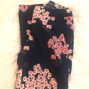 Cynthia Rowley Navy Floral Trousers